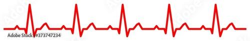 Photo gz906 GrafikZeichnung - electrocardiogram / red heartbeat line icon