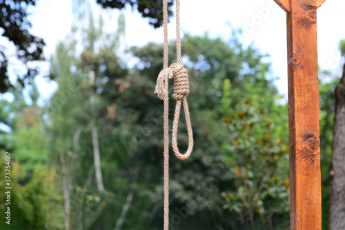 Photo Gallows Hanging Rope