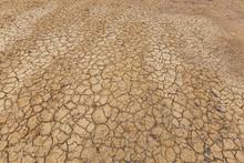 Brown Dry Soil Or Desert Crack...