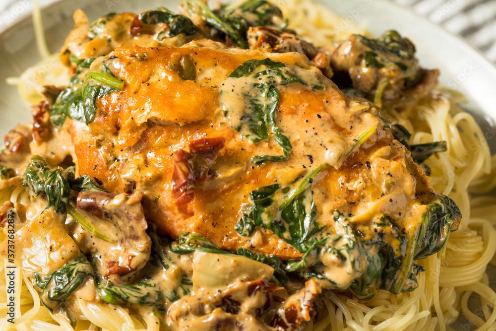 Homemade Creamy Italian Tuscan Chicken