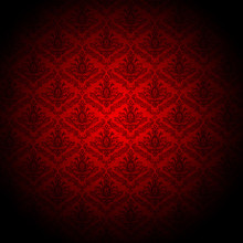 Baroque Red Wallpaper Background
