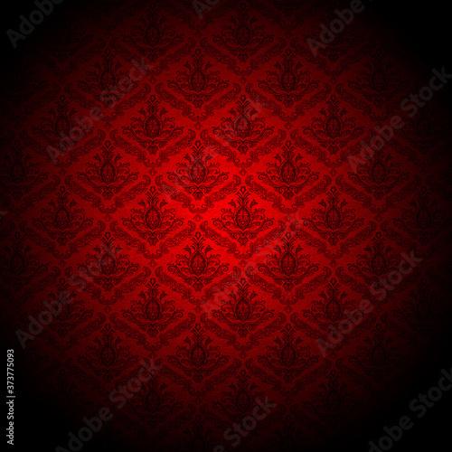 Fotografie, Tablou baroque red wallpaper background