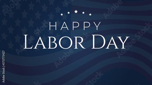 Cuadros en Lienzo Dark Blue Happy Labor Day Background Illustration