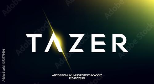 Papel de parede Tazer, an Abstract technology futuristic alphabet font