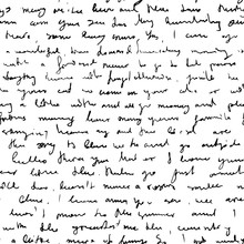 Seamless Vector Pattern Imitating Handwritten Messy Text, Unreadable, Illegible Doodle Cursive Script Background