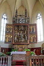 L'altare Scolpito Di Hans Klocker Nella Chiesa Di Santo Stefano A Pinzano (Bolzano)