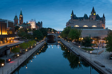 Ottawa City In Canada With Lights