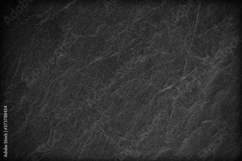 Dark grey black slate background or texture. Fotobehang