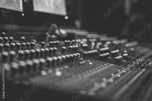 professional high end analog audio equipment Canvas Print