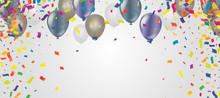 Balloons Card With Use To Pres...