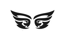 Black Wing Logo Custom