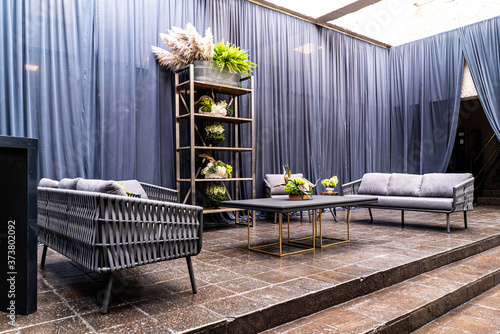 Fotografie, Obraz Flowers and high style party decoration