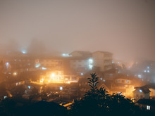 Neighborhood Fog In The Night