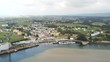 Figueras, coastal village in Asturias and Ribadeo, Lugo. Galicia,Spain. Aerial Drone Footage