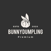 Rabbit Bunny Dumping Hipster Vintage Logo Vector Icon Illustration
