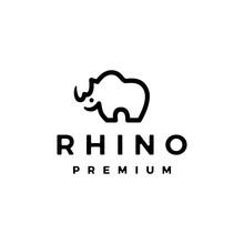 Rhino Logo Vector Icon Illustration