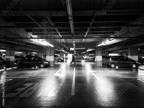 Obraz na plátně underground parking lot