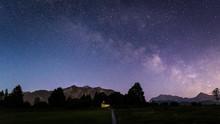 Galaxie Milchstraße über Kap...