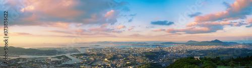 Photo 皿倉山より望む北九州方面の夕景パノラマ