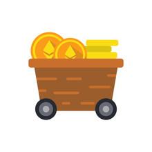 Ethereum Mining Cart Icon