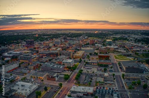 Aerial View of Sioux Falls, South Dakota at Sunset © Jacob