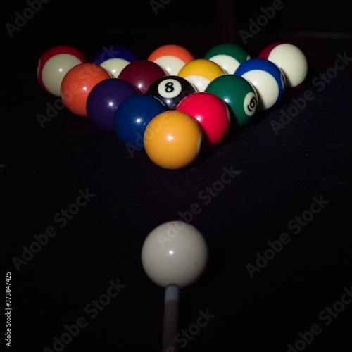 Billiards,Billiard balls Fototapeta