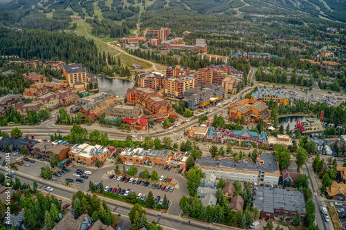 Aerial View of of the famous Ski Resort Town of Breckenridge, Colorado