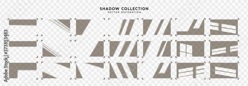Fotografering Set of Shadow overlay window frames