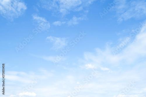 Fényképezés Beautiful blue sky clouds for background.