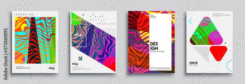 Fényképezés Modern abstract covers set