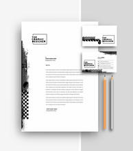 Business Letterhead With Busin...