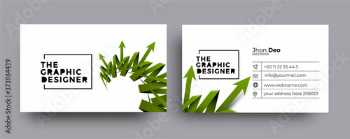 Modern Business Card - Creative and Clean Business Card Template. Fototapeta