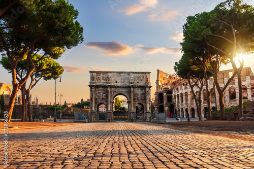 Fotografie, Tablou The Arch of Constantine in Rome, Italy