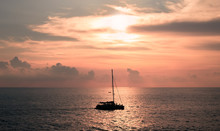A Sailboat Playing In The Sea ...