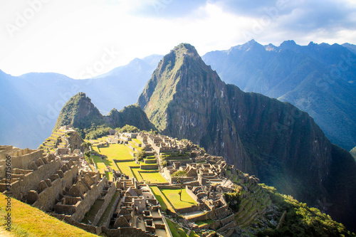 Fotografia Breathtaking view of the ruins of Machu Picchu in Peru
