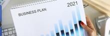 Business Planning Calendar For 2021 Closeup. Successful Business Management Concept.