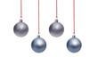 Leinwanddruck Bild - Christmas Ornaments isolated on a white background.