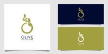 Olive Logo Vector Design Premium