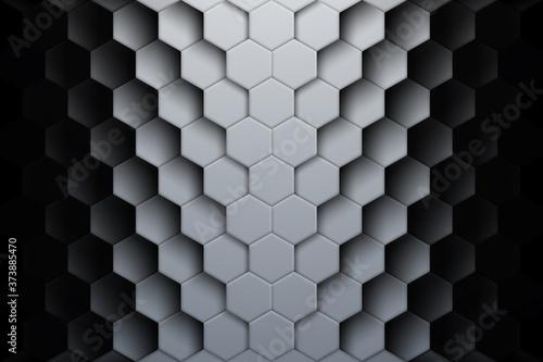 Obraz na plátně Abstract hexagon shapes background with shadows