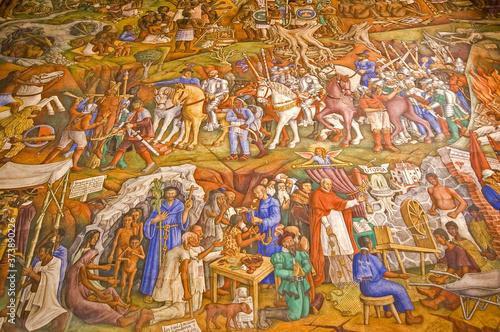 Frescos de Juan O´Gorman Wallpaper Mural