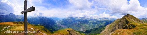 Papel de parede Folluhorn, Schweiz: Alpines Gipfelpanorama