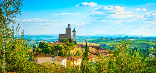 Vinci, Leonardo birthplace, village skyline Wallpaper Mural