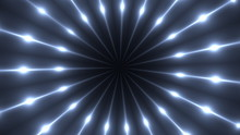 3d Render Of Fractal Rays With Glowing Point Lights. Computer Generated Abstract Background. Kaleidoscope With Flashing Flood Lights