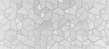 Abstract Grey Gray White Bright Seamless Geometric Hexagonal Hexagon Mosaic Cement Stone Concrete Tile Wall Texture Background Banner