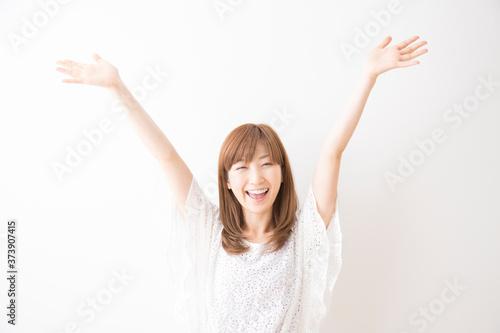 笑顔の女性 Fototapet