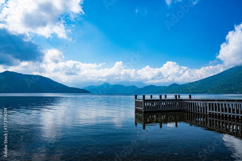 Fotomural 中禅寺湖と桟橋