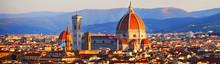 Florenz, Italien: Panorama Um ...