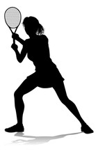 A Tennis Player Woman Female S...