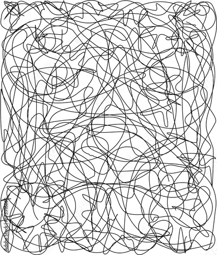 Photo Random Abstract Chaotic Lines Pattern