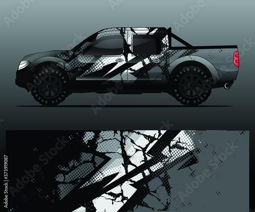 truck and vehicle Graphic vector Canvas-taulu
